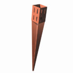 Ideal for fencing projects, the Wedge holds each post in a vice without the need for nails or screws.