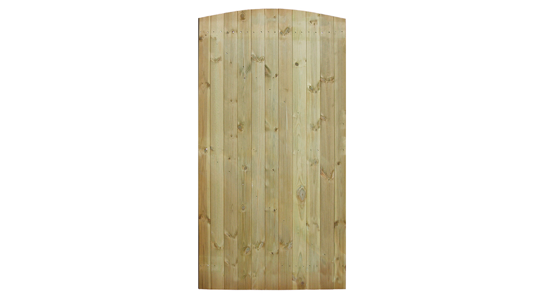The sturdy tongue and groove structure provides the gate with its strength and durability. Planed timber that is pressure-treated for protection, this gate can be used as either a side entry or front gate.