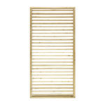 Add a personal touch to your garden with this adjustable screen. Use with slats open, or tilt slats to create privacy and allow for sunlight to reflect in different directions around your garden. This screen is ideal for zoning off an eating or patio area, fully framed and pressure-treated to provide longevity in use.