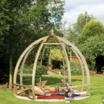 The Apollo Pergola is a distinctively designed dome shaped structure that will give your garden a contemporary feel. The beams and rafters are made from pressure-treated timber providing extra protection from outdoor elements.