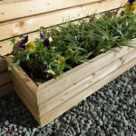 A contemporary styled rectangular planter perfect for displaying a small to medium sized flower display. Suitable for use in a small area such as a balcony, patio or even indoors. Made from pressure treated timber for long lasting use.