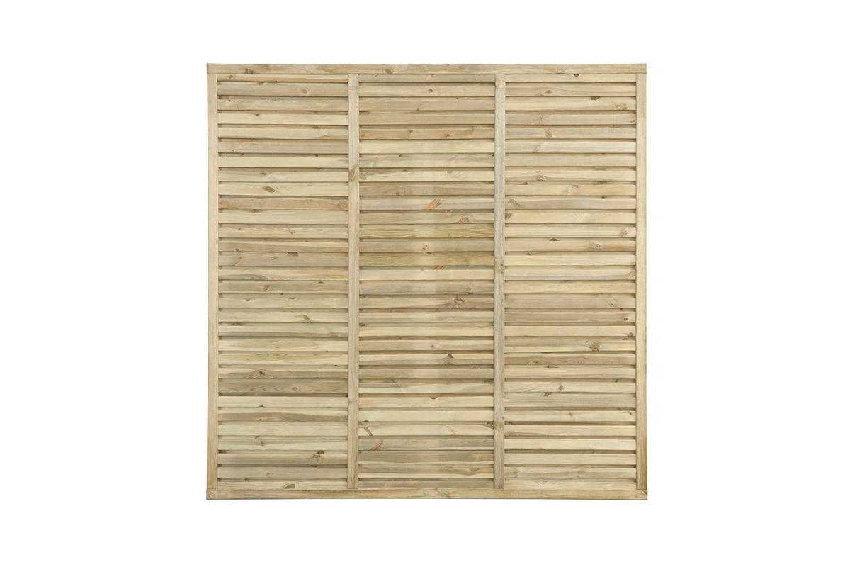 the Contemporary Vogue Panel is constructed with a fully Mortise and Tenon jointed frame and slats on both sides for ultimate privacy making this our most substantial and durable panel yet. Slats are planed and rounded for a premium look and feel. This panel is pressure-treated for protection against wood rot.