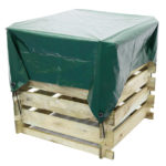 Waterproof composter cover designed to fit all three composters from Grange. It is ideal for keeping out the wet and retaining the warmth.