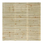 A heavyweight fence panel that combines a contemporary design with strength; making this the perfect fence for the modern garden. This substantial pressure_treated green panel is double sided and uses horizontal boards offering maximum privacy
