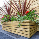 A substantial rectangular planter, perfect as a showpiece on a patio or decking area. Designed to match the Grange Contemporary garden range, the slats are planed and rounded for a premium feel. This planter comes with a liner, fully assembled and pressure treated as standard to provide protection from wood rot.