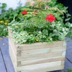 A substantial medium sized Square Planter ideal for creating a modern planting display. The planed and pressure treated timber enhances this robust planter's lifetime. The sturdy frame is supported by a metal locating pin in each corner, ensuring long-term durability.