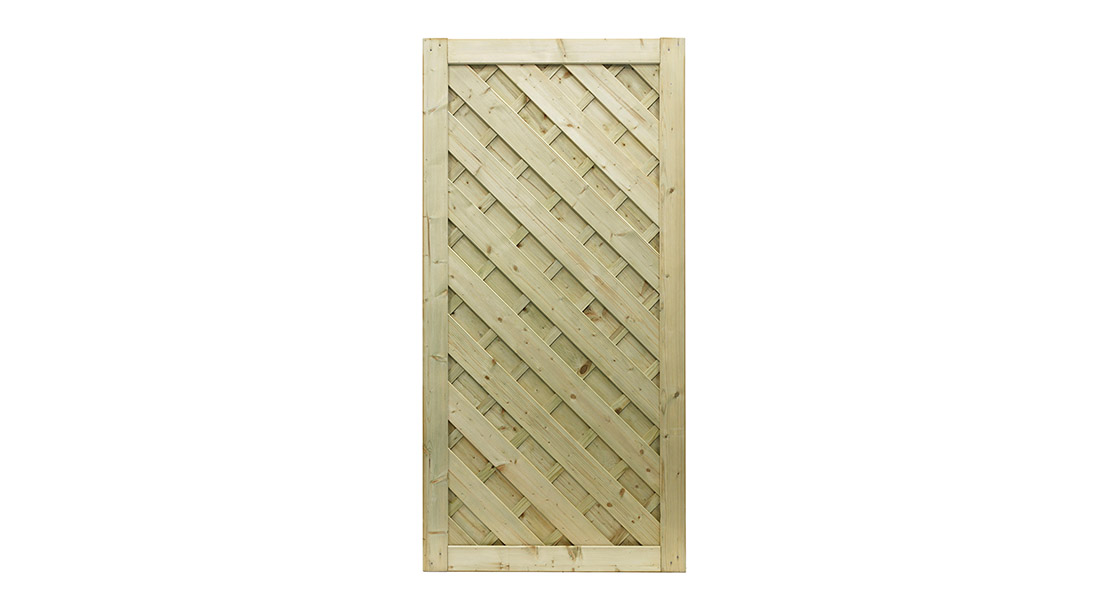 A premium gate featuring a superb chevron design. Crafted from top quality pressure-treated, planed and grooved timber, it has a fully Mortise and Tenon jointed frame for ultimate durability and strength.
