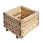 A heavy duty large Square Planter which is ideal for planting displays in your garden. The timber is pressure treated ensuring longevity in use, as well as being planed, giving it a superior finish. The sturdy frame is supported by a metal locating pin in each corner, ensuring long-term durability.
