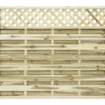 The Elite Malo Fence Panel is made from sturdy horizontal slats and lattice top that features a quality planed, rounded and grooved timber finish. This panel is pressure -treated offering protection against the elements and features a strong rebated frame for durability.