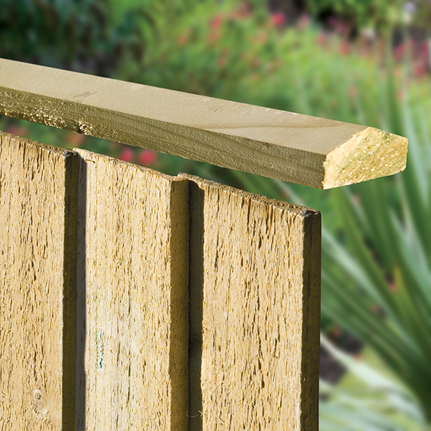 Provides a neat top to the featheredge panel system.