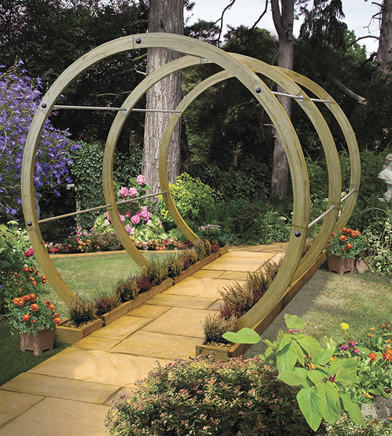 The Flower Walk is an eye-catching and contemporary design, which gives an attractive outline to your garden path. Its clean and simple design is crafted using the finest pressure-treated timber to ensure longevity in use, whilst the stainless steel rods give this structure a modern twist