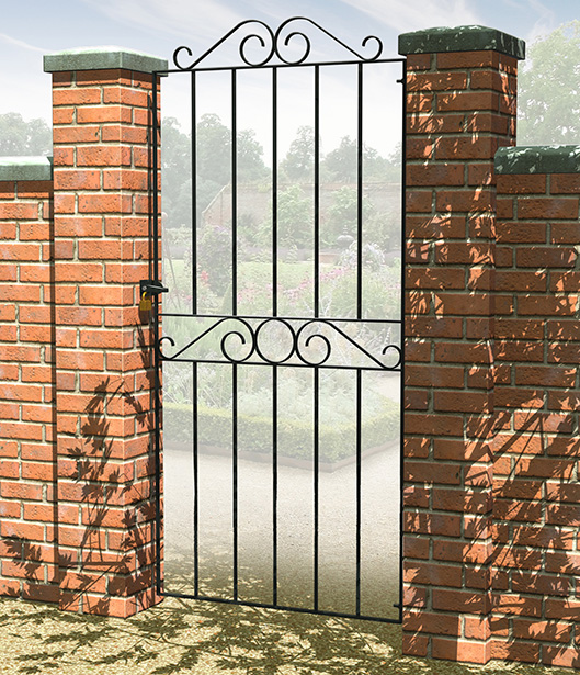 The scroll top design of the Ironbridge range will add a traditional feel to your garden. This range features a tall and small gate as well as a rail and fence. All products in this range include fixings and are galvanised and powder coated for improved corrosion resistance.