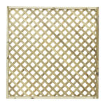 Madeley trellis offers a decorative lattice styled design with 70mm lattice gaps. Ideal for mounting or as a fence panel top, this design has a sturdy 45mm thick rebated frame. Offering planed and rounded trellis the timber is also pressure-treated ensuring years of use.