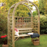 The Montebello Arbour is a large and inviting structure with an attractive bow shaped roof. This versatile structure is ideal for both contemporary and traditional gardens alike. All components are pressure-treated to provide extra protection and appearance retention.