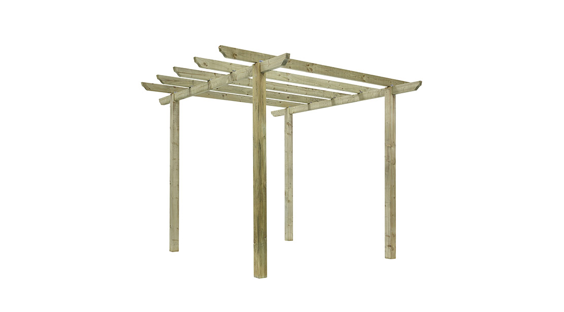 This standalone Traditional Pergola is ideal for use on a lawn or patio area. The posts and rafters are ideal for growing climbing plants and roses. The planed and pressure-treated timber provides a superior finish and longevity in use.