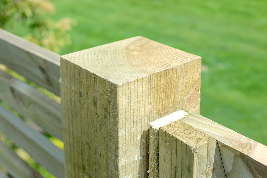 The standard Grange 75mm square post is pressure treated green for greater protection against wood rot a decay. This post is ideal for use with fence panels and gates.