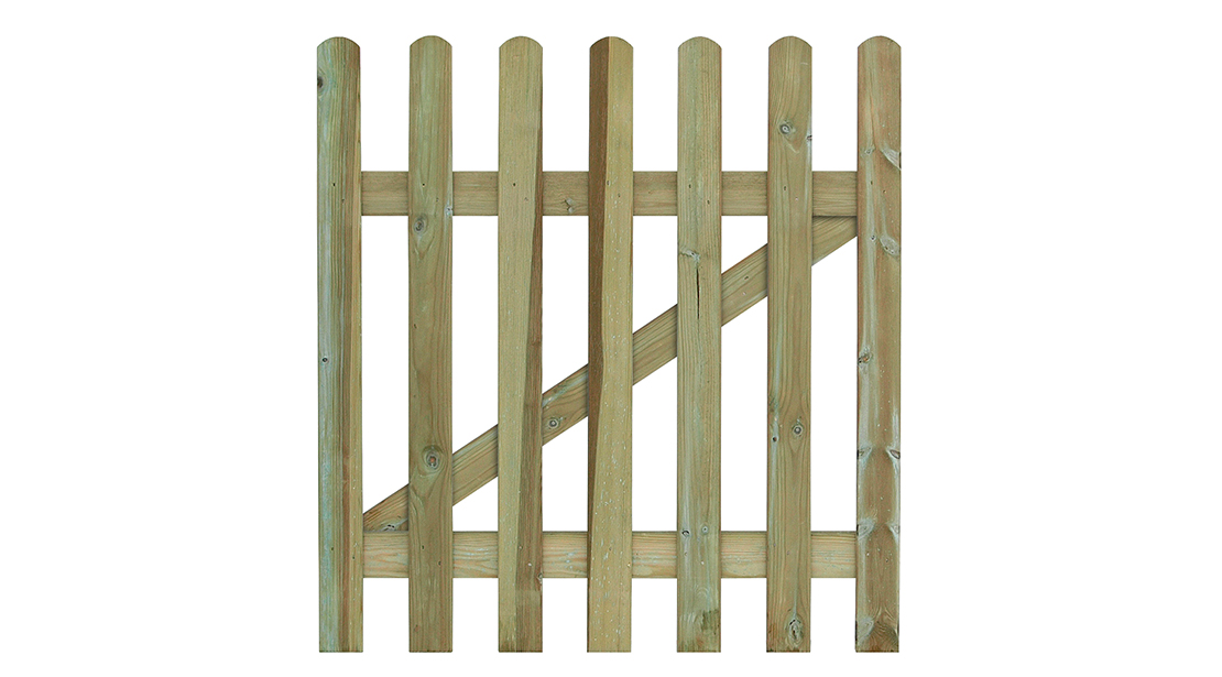 Manufactured from smooth-planed, pressure-treated timber to ensure protection from wood rot and fungal decay to complement the Round Top Palisade Fence.