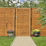 The Grange Side Entry Lap Gate is a great edition to a run of Grange Lap fencing. Made from waney edge slats, this gate can be hung from either left or right side with the option to use as a side or main entrance gate. Pressure-treated in golden brown treatment for protection against wood rot.