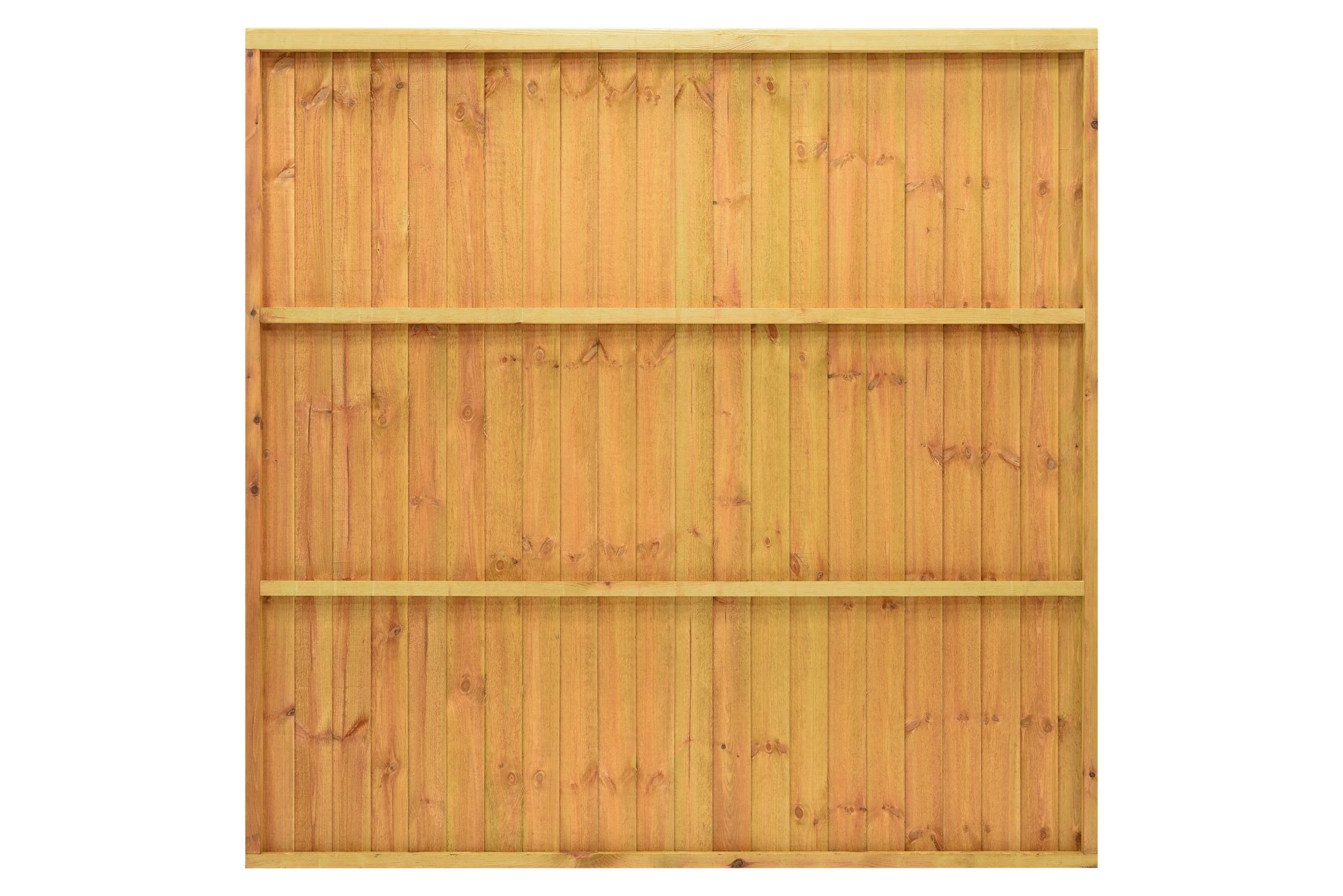 A heavy duty panel made with 100mm featheredge boards and capping rail fixed to a sturdy frame. The Standard Featheredge Panel is available in pressure-treated golden brown or pressure-treated green to protect the timber from wood rot.