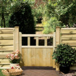 A gate with simple, clean lines crafted from planed timber. Pressure-treated for protection against wood rot and fungal decay with the option to hang from either side.