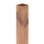 The standard Grange 75mm and 100mm square post is pressure treated green for greater protection against wood rot a decay. This post is ideal for use with fence panels and gates.