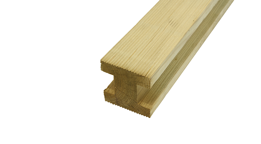 This Elite grooved fence panel H post from Grange Fencing is available in 2 different sizes & made from pressure-treated timber for long-lasting use. Gap for fence panel is 43mm, please check width of your fence post for fit before purchase.