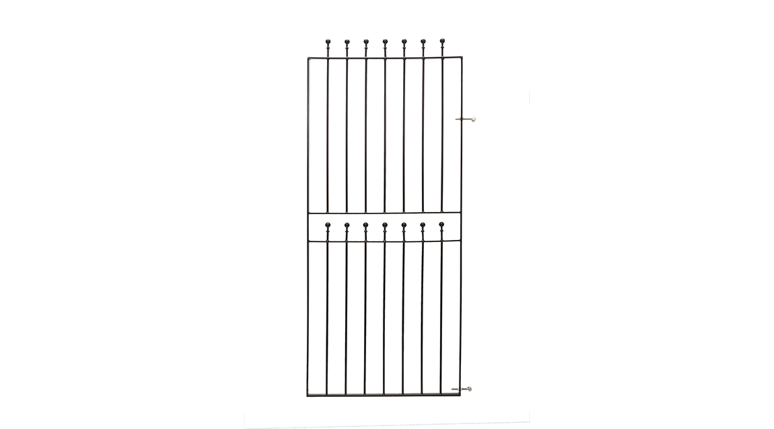 The Wenlock Range of gates, fencing and railings features a modern and simplistic ball top design and is galvanised and powder coated for improved corrosion resistance. This range includes fixings and the fence and rail is available to order in varying widths to suit your posts or brickwork.
