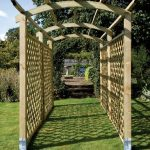 This Pergola offers a framework upon which to grow your climbing plants. This modern structure adds height and depth, transforming a garden space. The Pergola components are pressure-treated to protect the structure from rot.
