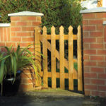 This gate has been designed to blend seamlessly with the Tulip Palisade Fence Panel. It is pressure treated in a golden brown colour with a fine sawn finish making for a smooth timber surface.