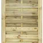 This gate offers a simple, decorative deign ideal for use with the matching Elite St Esprit Fence Panel. The Esprit Gate is crafted from top quality pressure-treated, planed and grooved timber. It also features a fully Mortise and Tenon jointed frame for ultimate durability.