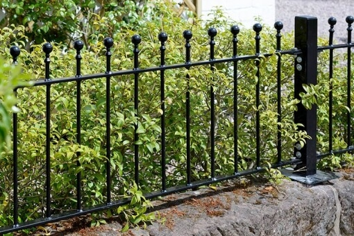 The Wenlock Range of gates, fencing and railings features a modern and simplistic ball top design and is galvanised and powder coated for improved corrosion resistance.